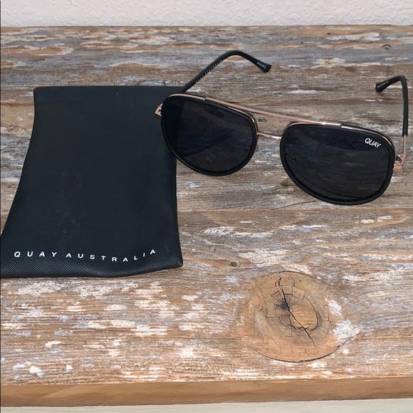 "Quay Australia Accessories - QUAY ""Needing Fame"" Sunglasses - Black"